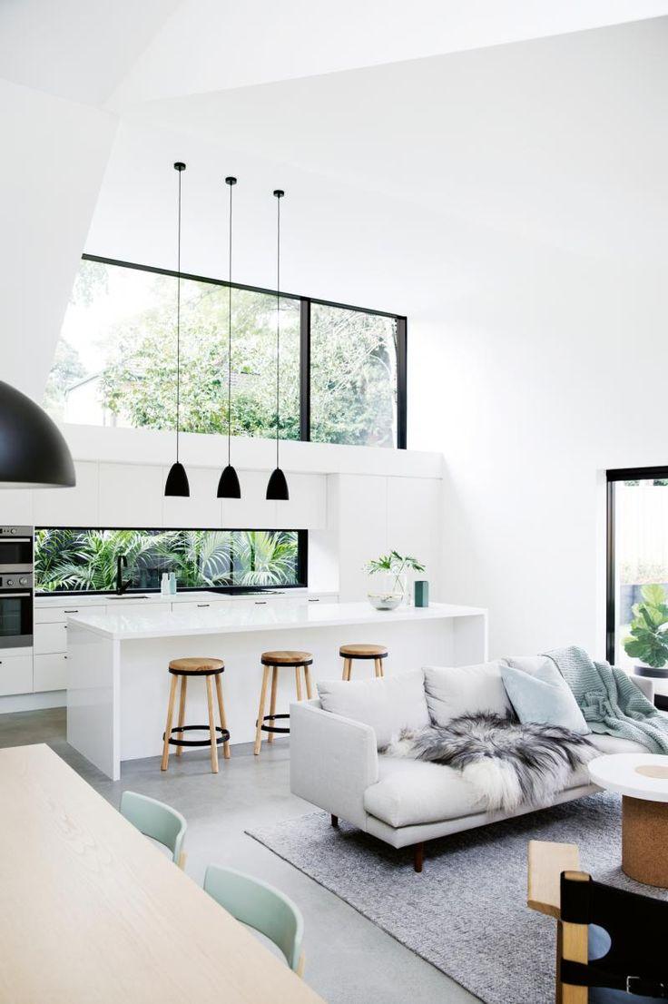 Architect Prineas Sydney home. Monochrome. Black and white.