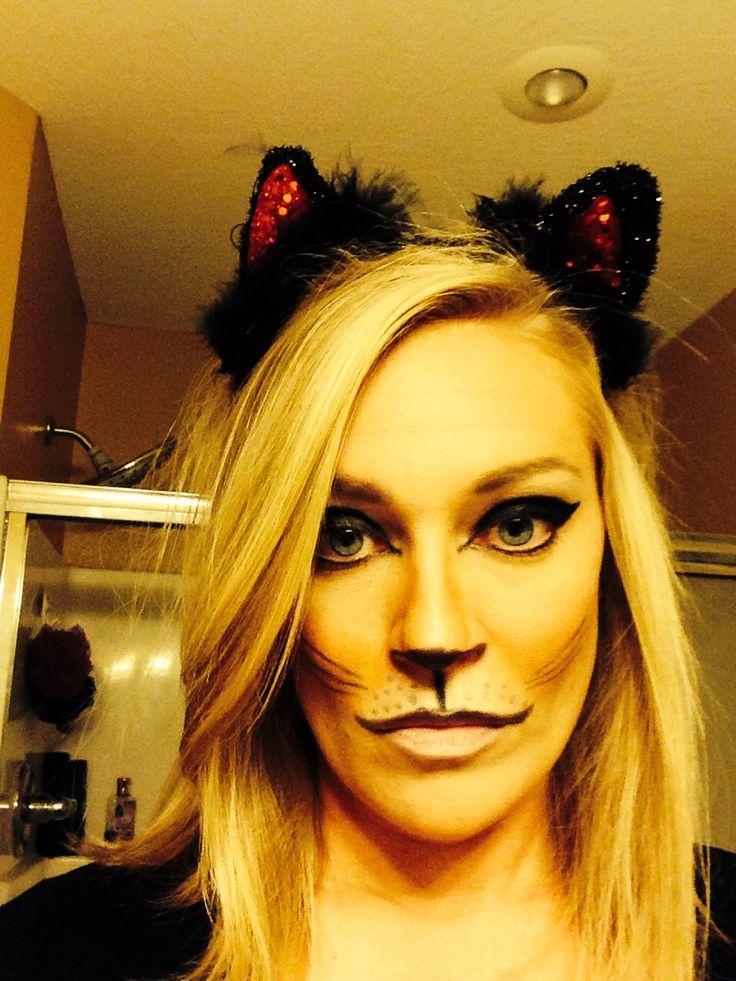 68 best Halloween images on Pinterest | Make up, Cat halloween ...
