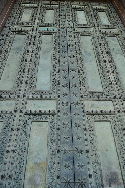 Original bronze doors to Curia Julia, Forum of Rome -  now on the church of San Giovanni in Laterano, Rome