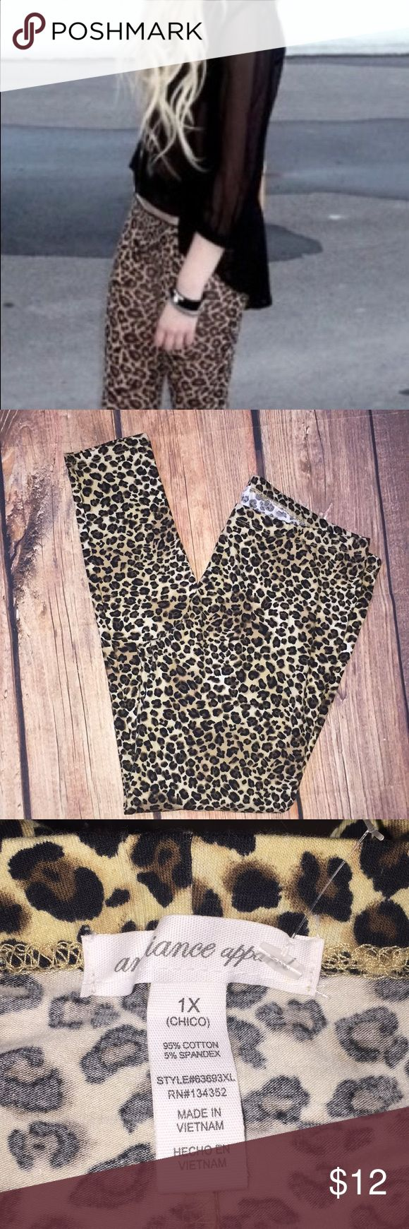NEW AMBIANCE Cheetah Tights Leggings plus Sz 1X New, cheetah leopard tights leggings plus Sz 1X Ambiance Apparel Pants Leggings