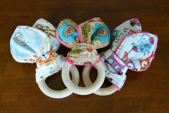 Check out this item in my Etsy shop https://www.etsy.com/listing/221662709/bunny-ear-teether