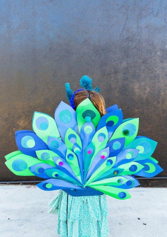 DIY Peacock Costume for Kids