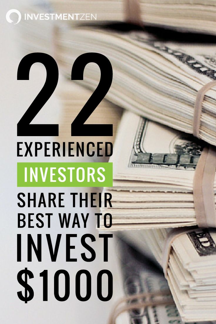 What's the best way to invest $1,000? Even the most seasoned investor had to begin somewhere. We asked a panel of seasoned investors what they would do if they only had $1,000 to invest.