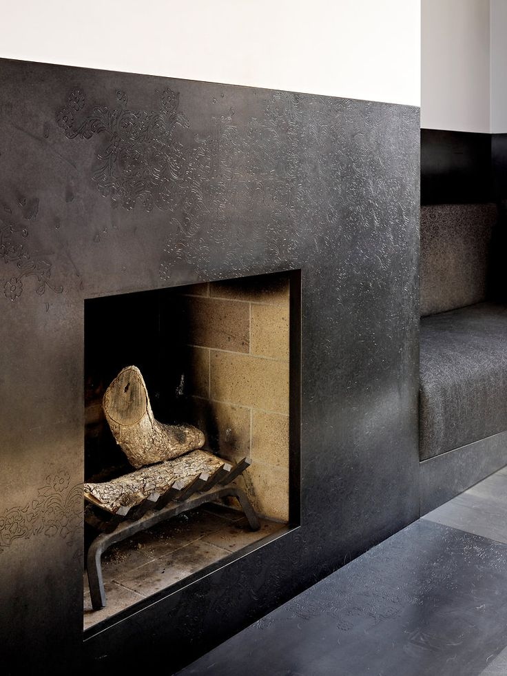 blackened steel fireplace surround,design etched.  In San Francisco, Design as Conceptual Artwork - Slide Show - NYTimes.com