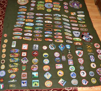 Elective #18 Idea - Sew a Button - Make Scout Patches blanket