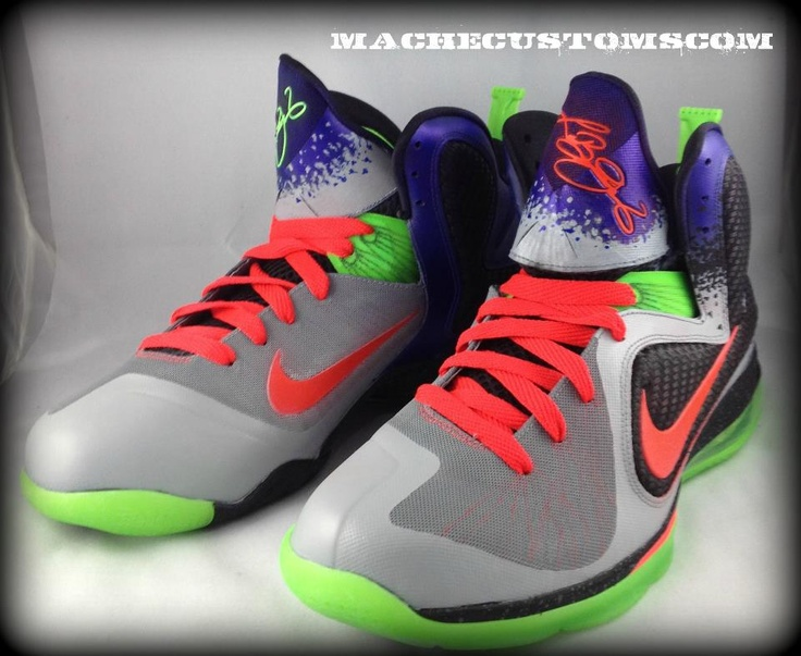 Genuine Nike Lebron 9 south beach custom da prince