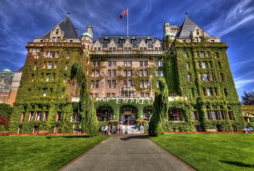 The Fairmont Empress Hotel... Victoria, BC. One of the oldest and most famous hotels in Victoria, there are almost too many spirits reportedly haunting this place to count. A lost woman, ghoulish little girl, a chambermaid and a carpenter who hung himself from the rafters are all said to haunt the landmark hotel.