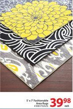 5' x 7' Fashionable Area Rugs from Walmart Canada $39.98