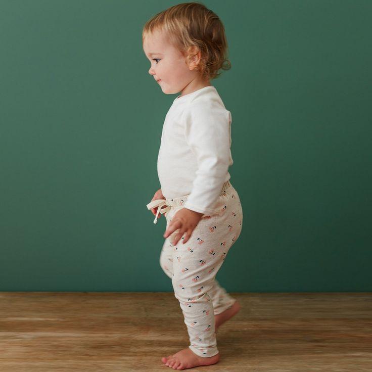 Organic Stretch Jersey Cotton Sunday Pants | Cherry Print