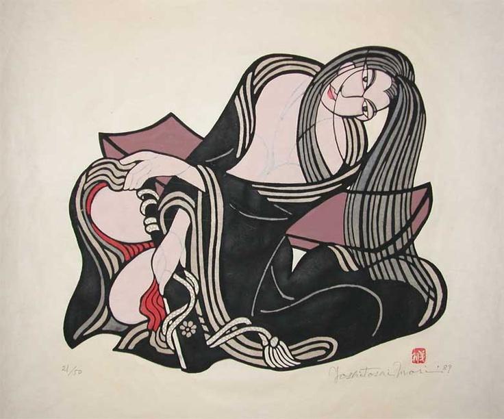 Japanese Prints - Black Hair Yoshitoshi Mori 1989