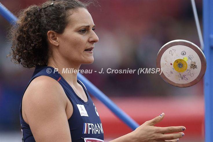 Mélina ROBERT-MICHON Médaille d'argent Championnat d'Europe Athletisme Zurich 2014- Lance du Disque