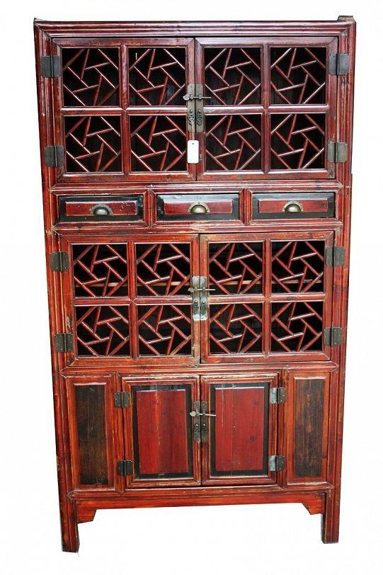 Oryginalna szafa ażurowa - ANTYK - Harpa Baazar: meble orientalne, polaszek, antyczne, meble z litego drewna, dekoracje ceramiczne do mieszkania, stoły ręcznie robione, misy z drewna tekowego