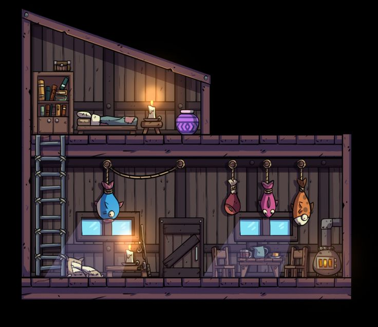 In Bullet Age you can enter buildings. This is the interior of one of the huts you will be able to go into. Looks warm and cozy doesn't it?