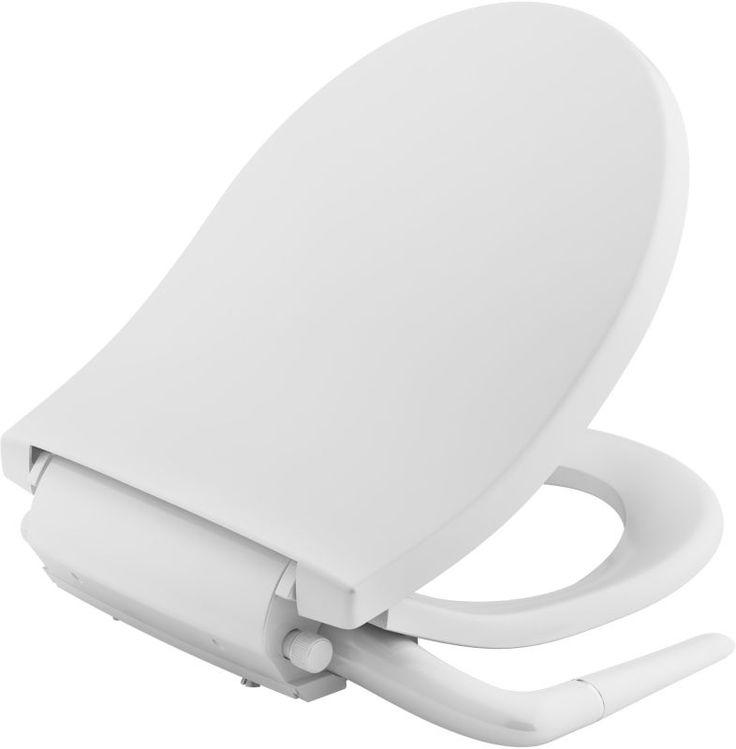 Kohler K-76923 Puretide Round Bidet Toilet Seat with Quiet-Close Quick-Release White Accessory Bidet Seats Round