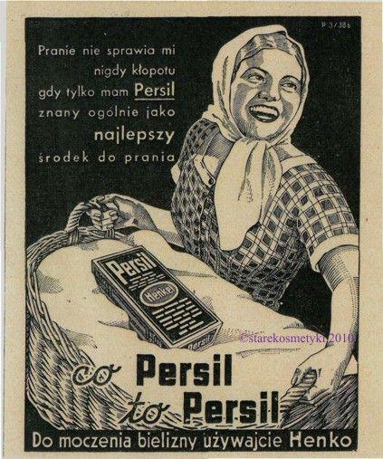 Reklama prasowa Persila z prasy codziennej (lata 30.)