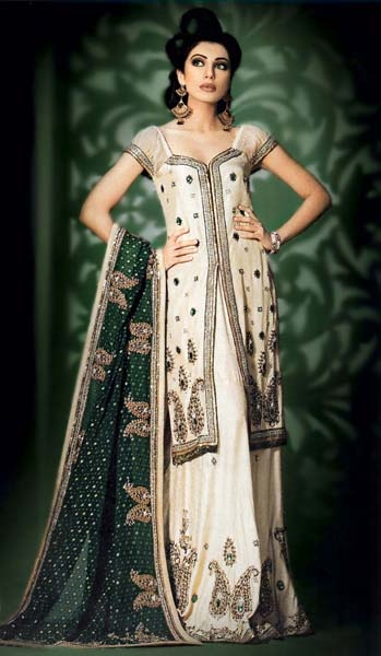 Have I told you? I love Indian things. Light Gold & Green Gharara. Shirt and co…