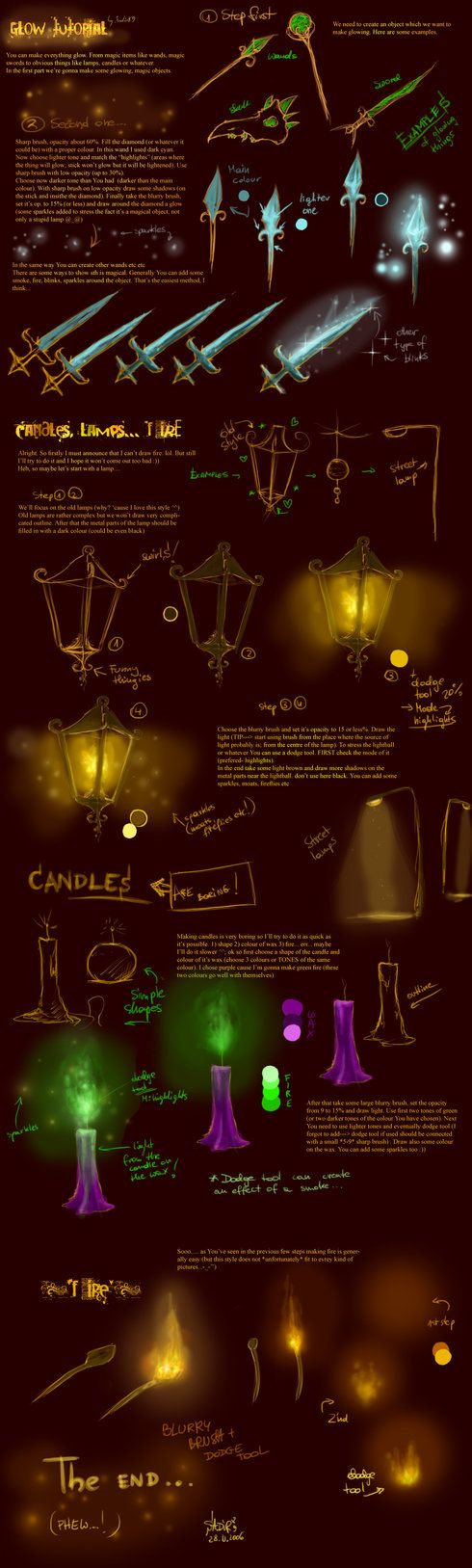 Glow tutorial by ~Sadir89 on deviantART
