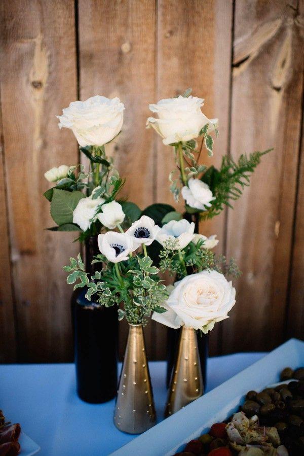 Elegant Rustic Wedding At Strawberry Creek Ranch White Flowers Vases And Wedding
