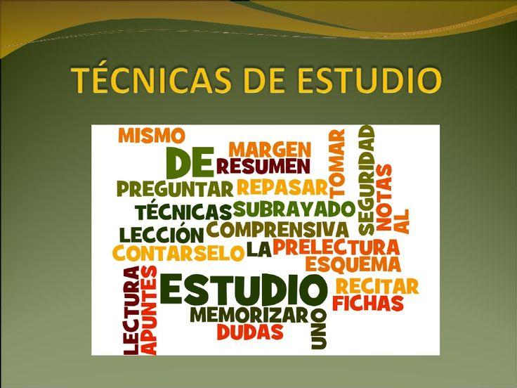 Técnicas de Estudio. PPT de Rafael Castañeda Solís