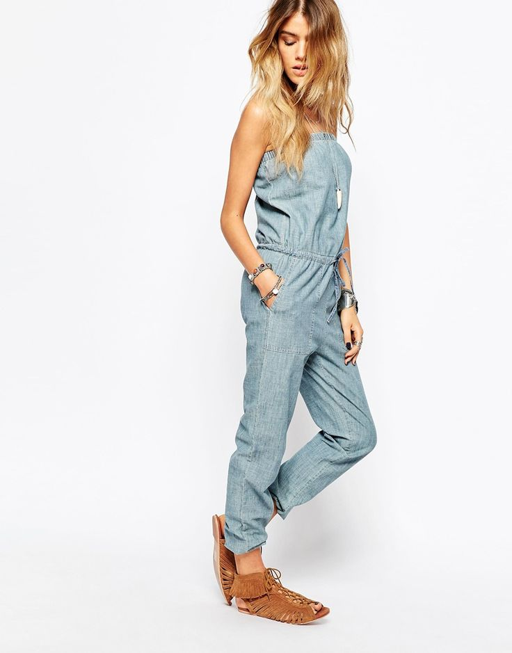 Bandeau-Overall aus Chambray