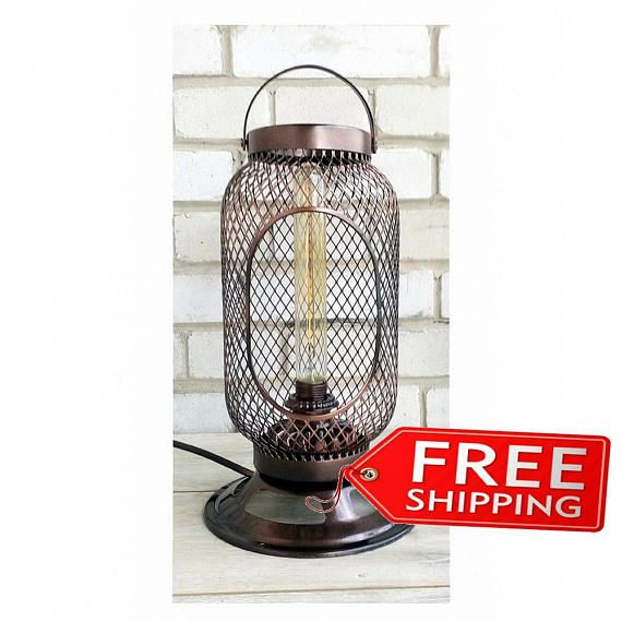 Iron hanging lantern Indoor pipe lighting Bathroom lighting Vintage industrial Indoor lighting Industrial lantern light Steampunk lamp