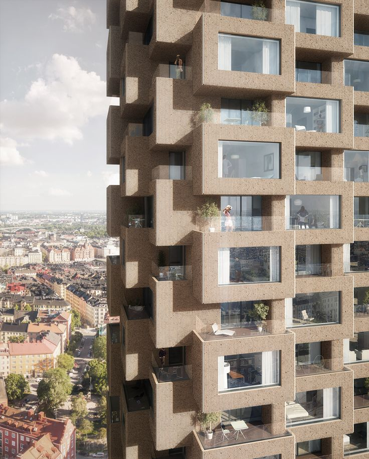 New Details On OMA's Norra Tornen Twin Towers In Stockholm
