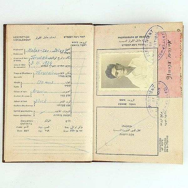 Sold Price Mandatory Palestine Passport July 1 0115 7 00 Am Idt Palestine Passport Old Photos