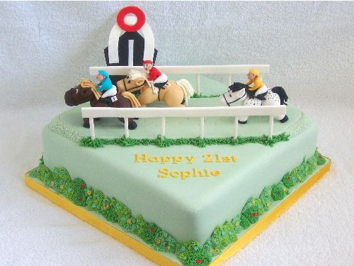 horse racing cake by Mystical Mischief, via Flickr