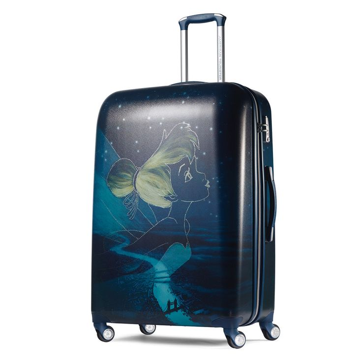 Disney's Peter Pan Tinkerbell Hardside Spinner Luggage by American Tourister, Black