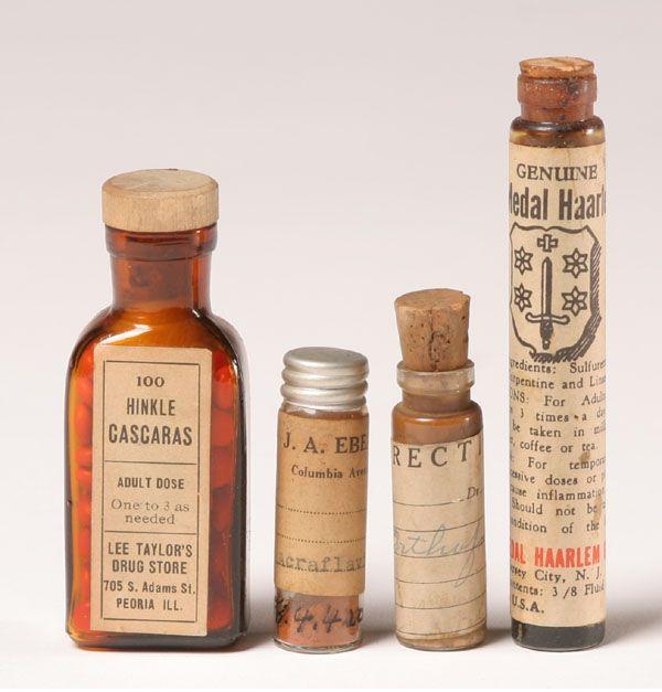 Glass Medicine Bottles Wyeth Unicorn Root