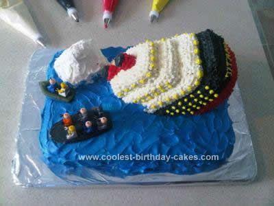 Coolest Sinking Titanic Cake Titanic Cake Need To And Cakes