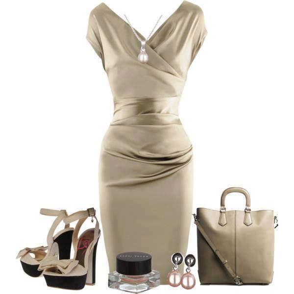 Elegant satin cocktail dress ... Bridesmaids!!  Little darker but LOVE the style!!