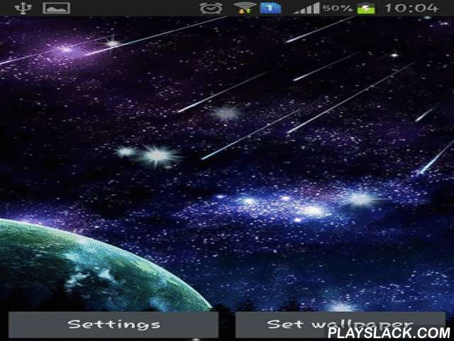 Meteor  Android App - playslack.com , Meteor - education an actual space voyage with thousands of descending  stars and meteoroids. Live wallpapers can be set to most devices and are power saving.