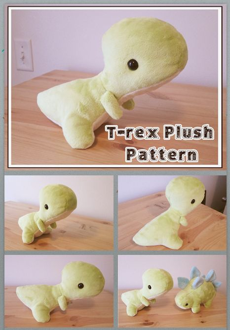 NOW AVAILABLE Baby t-rex plush pattern for sale on my etsy. Only $5.00 www.etsy.com/listing/191748242…