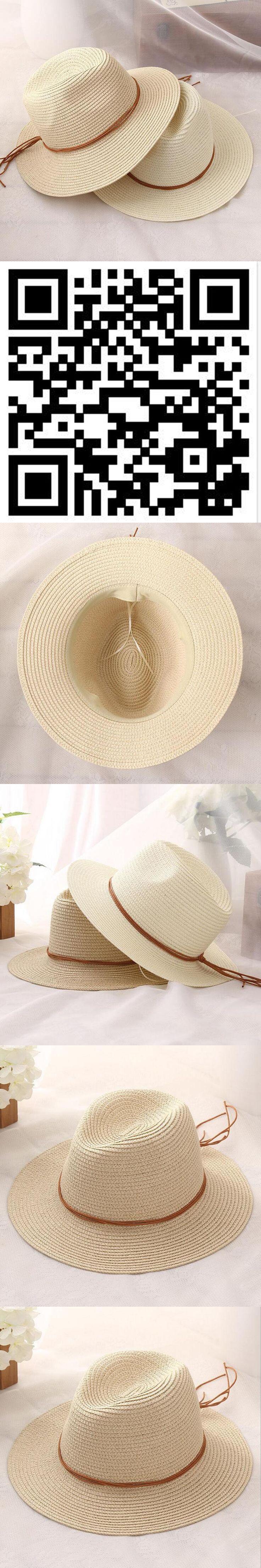 Women Summer straw Sun hat Boho Beach wide Brim Fedora hat Sunhat Trilby panama Hat Gangster sombrero men Cap