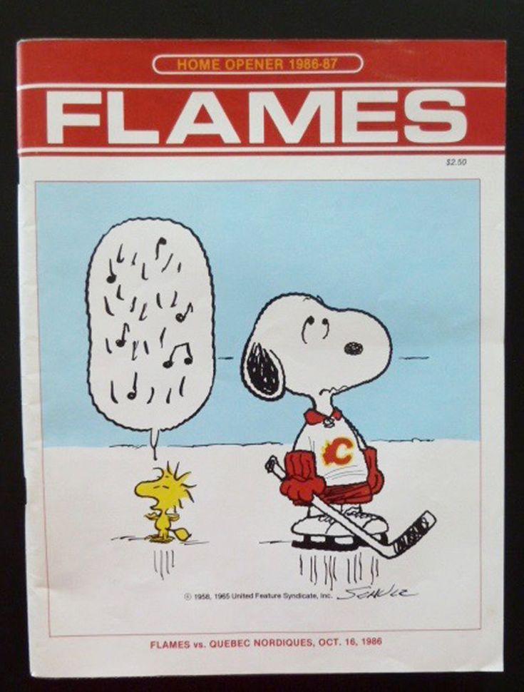 Calgary Flames v Quebec Nordiques Program NHL Home Opener Oct 1986 & Aug Report #vsQuebecNordiques