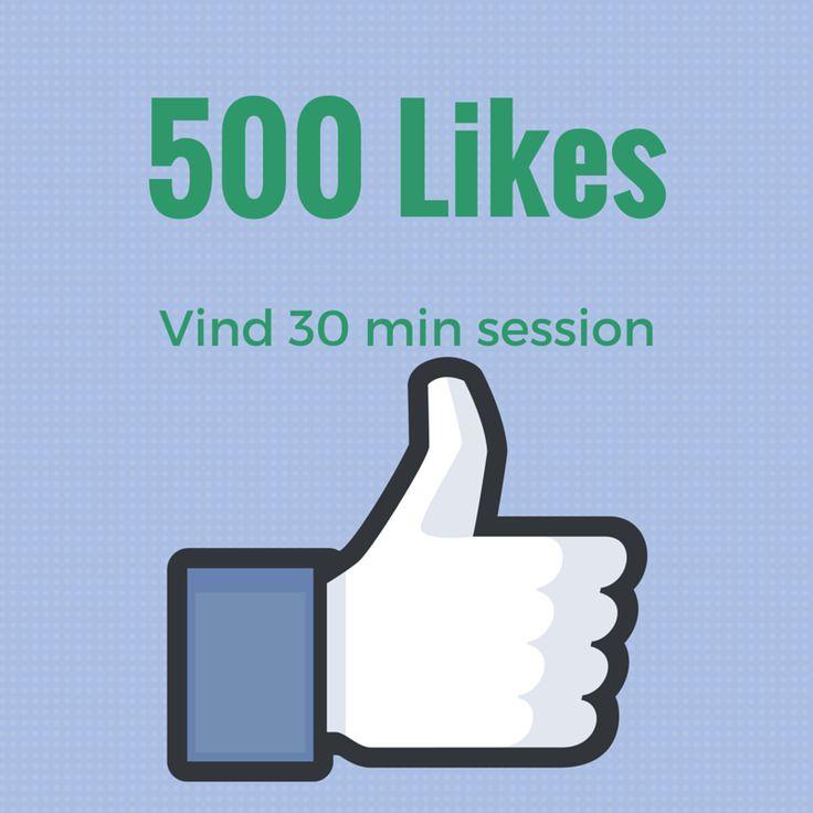 Rundede 500 likes på min FB. Det skal fejres med en gratis session til mine følgere. Vil du være med i lodtrækningen? www.facebook.com/bettinawaede.dk
