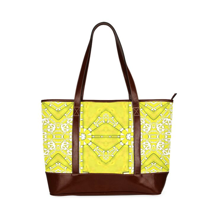 Custome tote bag with yellow shine-annabellerockz Custom Tote Bag 11 (Two Sides).Into the summer with yellows, fractal pattern by Annabellerockz