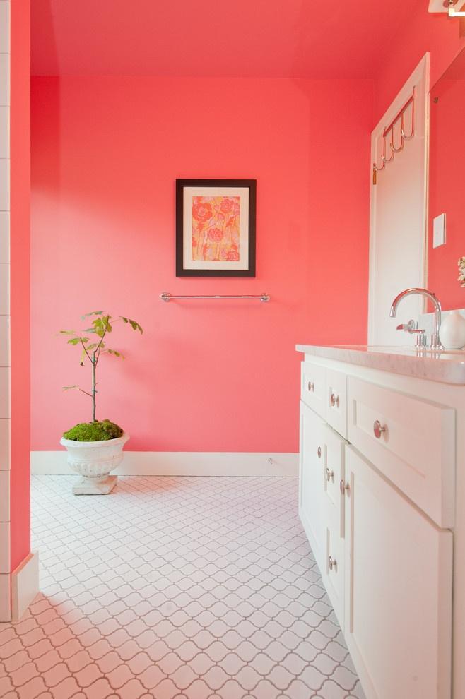 Pink Bathroom - contemporary - bathroom - austin - Schroeder