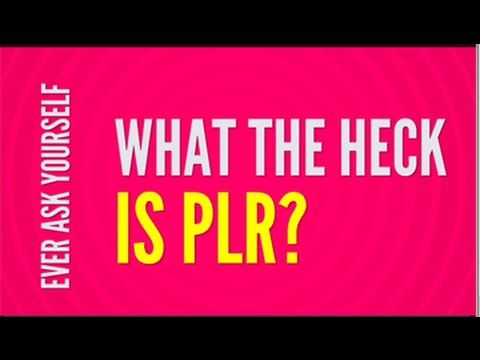 What the Heck is PLR? PLR content means different things to different people. But overall, it refers to content that you are given rights by the original author to use.   You can add your name as the author, change it, add to it, sell it and sometimes even give it away.If you've never used PLR content before, you may be wondering what is so special about it. The answers are here.