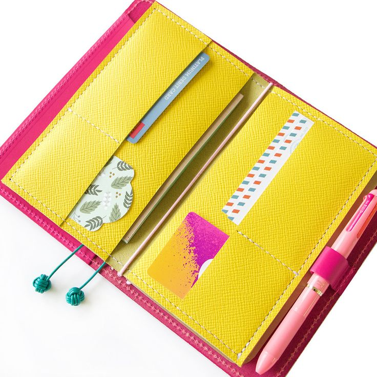 Yellow Wallet Insert #FoxyFix #Notebook