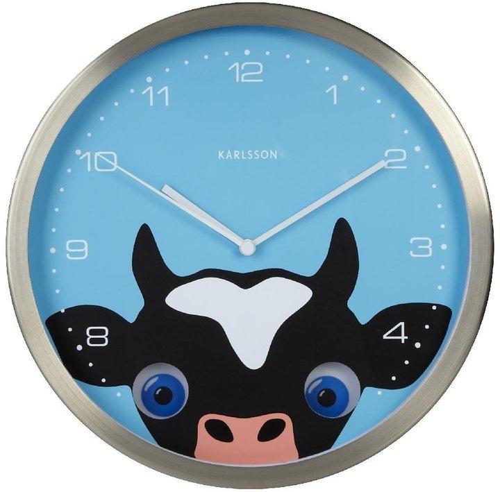 Wall Clock Cow Peekaboo    Ceas de perete Vaca Peekaboo