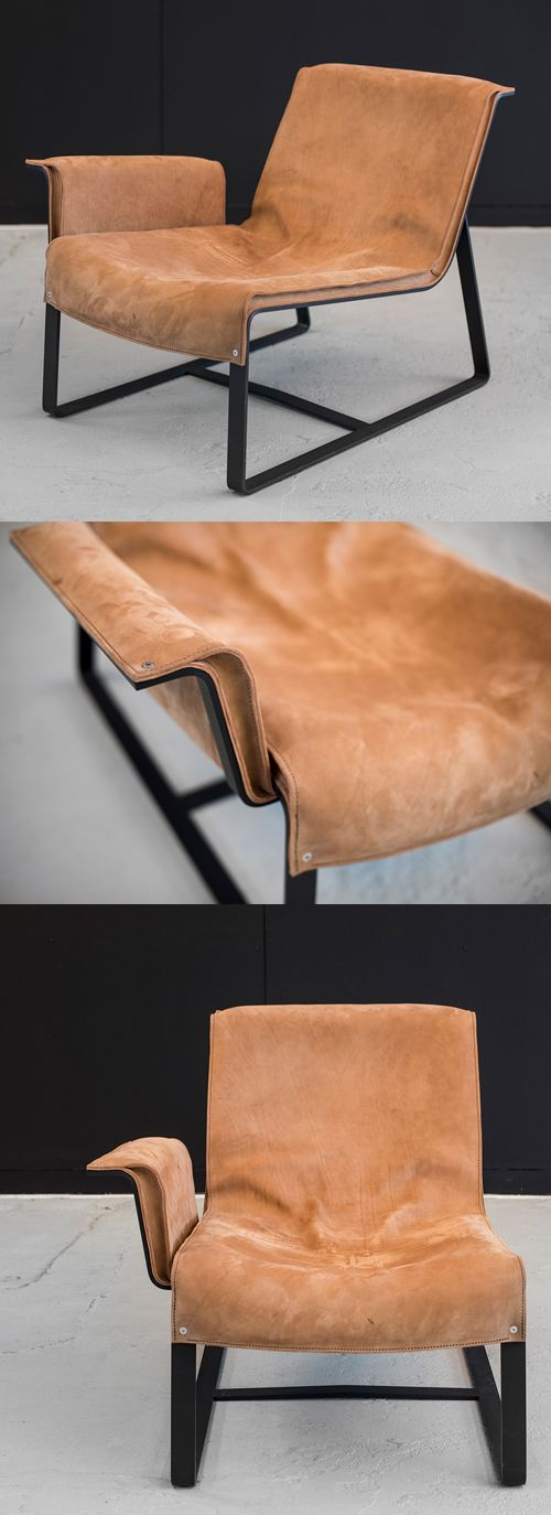 Chair Fortuille Leather Camel Steel - IN STOCK #camelleatherfortuille