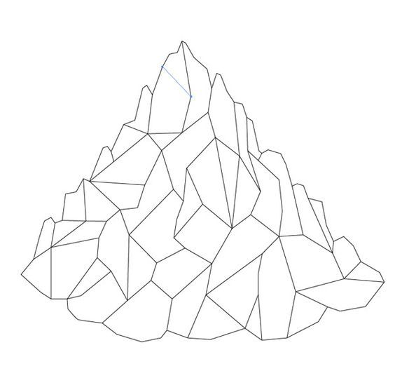 how to draw mountains top down