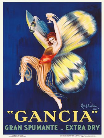 Beautiful Gancia Spumante butterfly woman http://www.vintagevenus.com.au/products/vintage_poster_print-d427