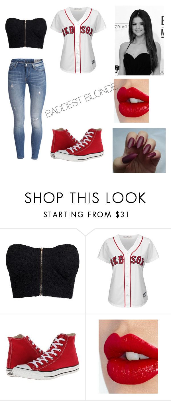 """""""Baby Ariel (from musical.ly) inspired outfit"""" by jaedababe ❤ liked on Polyvore featuring NLY Trend, Majestic, Converse and Charlotte Tilbury"""
