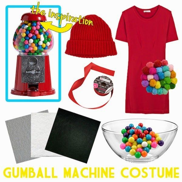 DIY Gumball Machine Halloween Costume | Neon Rattail