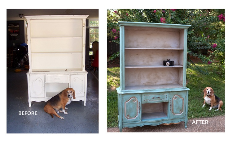 Before and after re purposed cabinet using annie sloan for Annie sloan chalk paint kitchen cabinets before and after