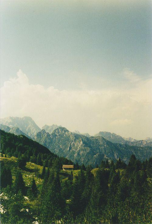 Hillside cabin in Friuli Venezia Giulia, Italy. -cabinporn