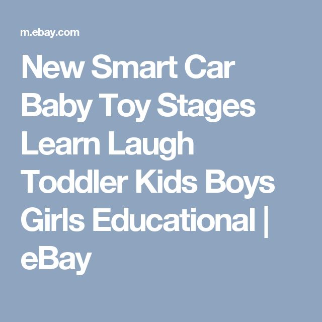 New Smart Car Baby Toy Stages Learn Laugh Toddler Kids Boys Girls Educational | eBay